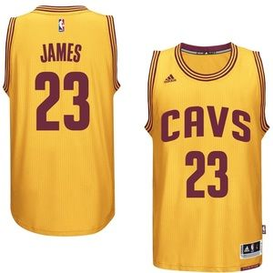 Adidas LeBron James Cavaliers basketball jersey